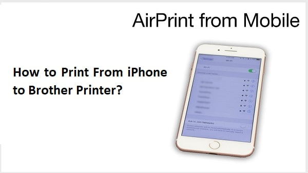 print from iphone to Brother Printer